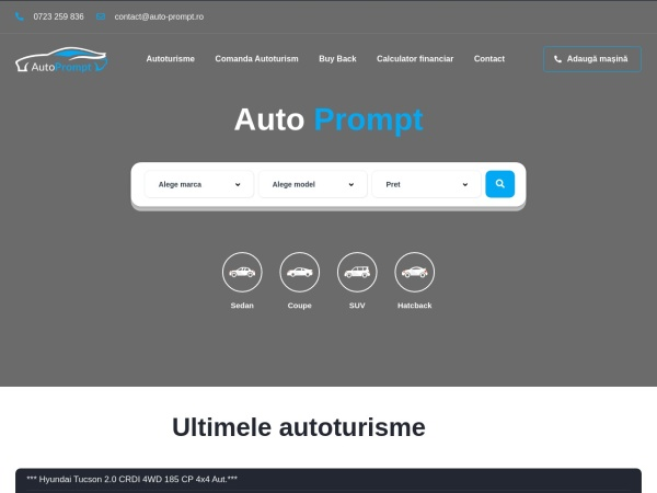 Screenshot of auto-prompt.ro