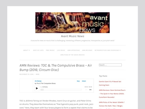 Screenshot of avantmusicnews.com