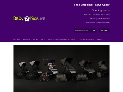 Screenshot of baby2kids.com.au