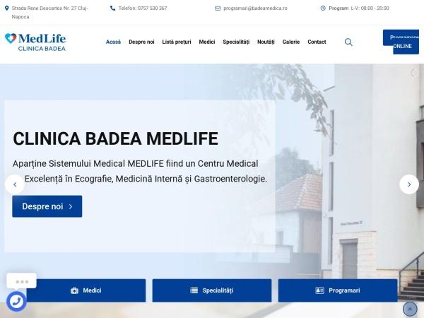 Screenshot of badeamedica.ro