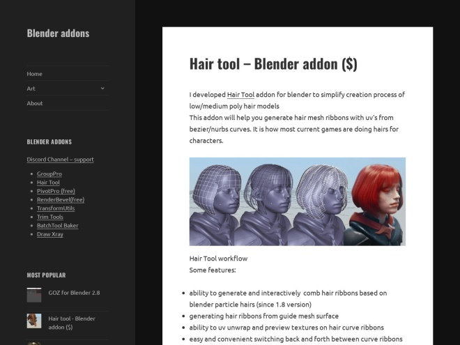 https://bartoszstyperek.wordpress.com/2017/07/29/hair-tool-blender-addon/