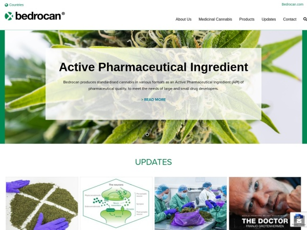 Screenshot of bedrocan.com