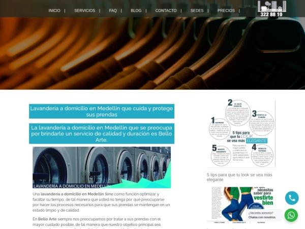 Captura de pantalla de belloarte.com.co