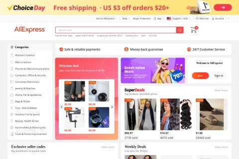 Screenshot of best.aliexpress.com