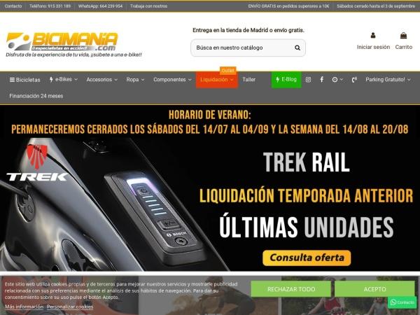Captura de pantalla de bicimania.com