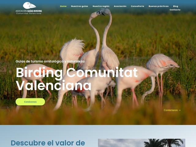 Screenshot of birdingcv.com