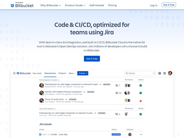 Screenshot of bitbucket.org