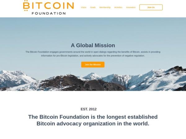 Screenshot of bitcoinfoundation.org