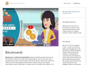 Screenshot of bitcoinverdi.no