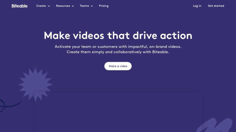 Screenshot von biteable.com