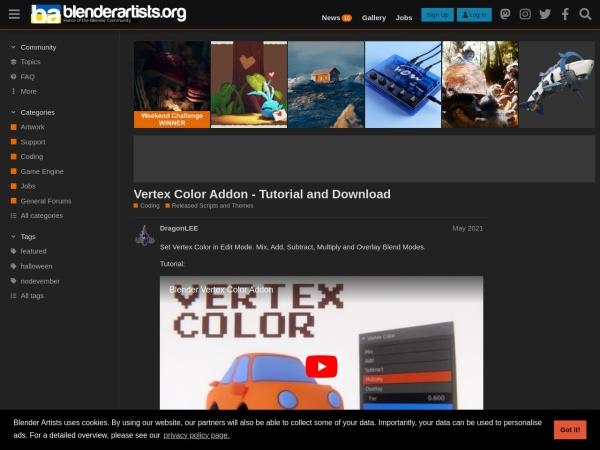 Screenshot of blenderartists.org