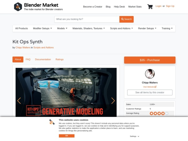 Screenshot of blendermarket.com