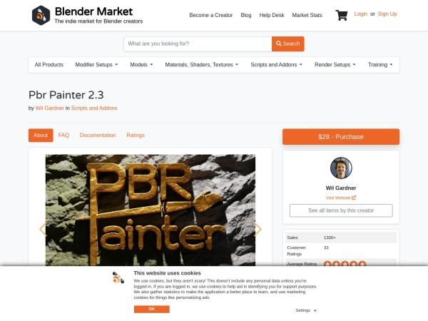 Screenshot of blendermarket.com
