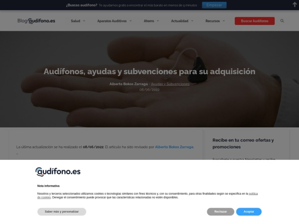 Captura de pantalla de blog.audifono.es