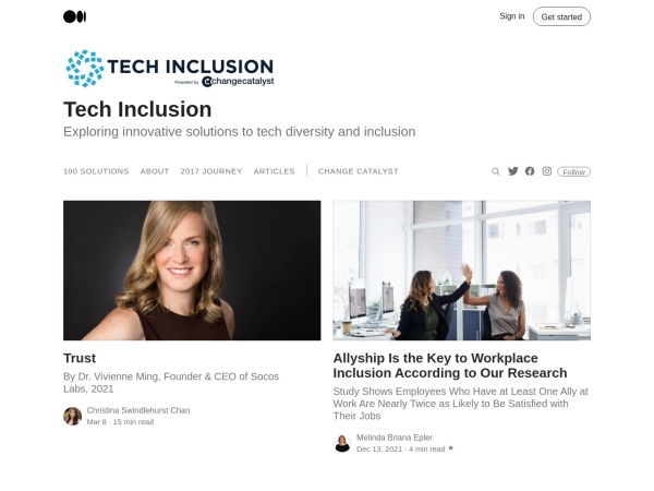 Techninclusion Blog Screenshot