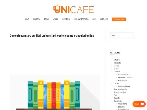 Screenshot of blog.unicafe.it