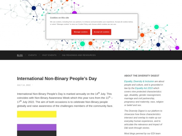 Diversity Digest Screenshot