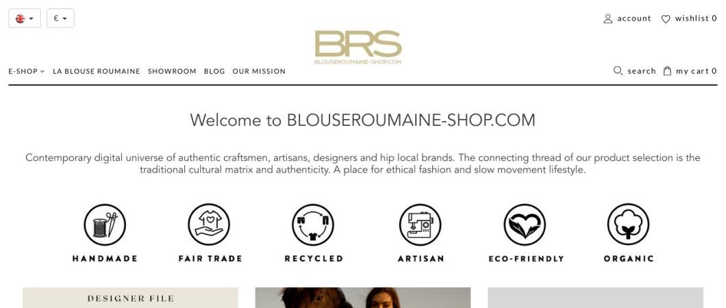 Screenshot of blouseroumaine-shop.com