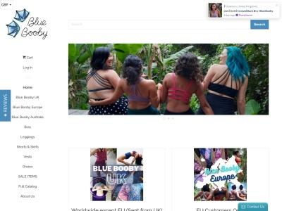 Screenshot of bluebooby.com