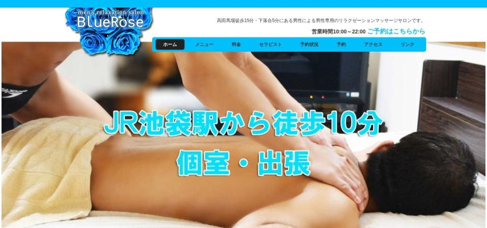 Screenshot of bluerose-relax.com