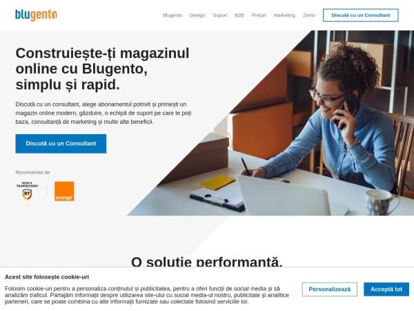 Screenshot of blugento.ro