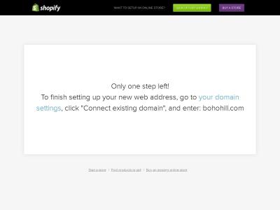 Screenshot of bohohill.com