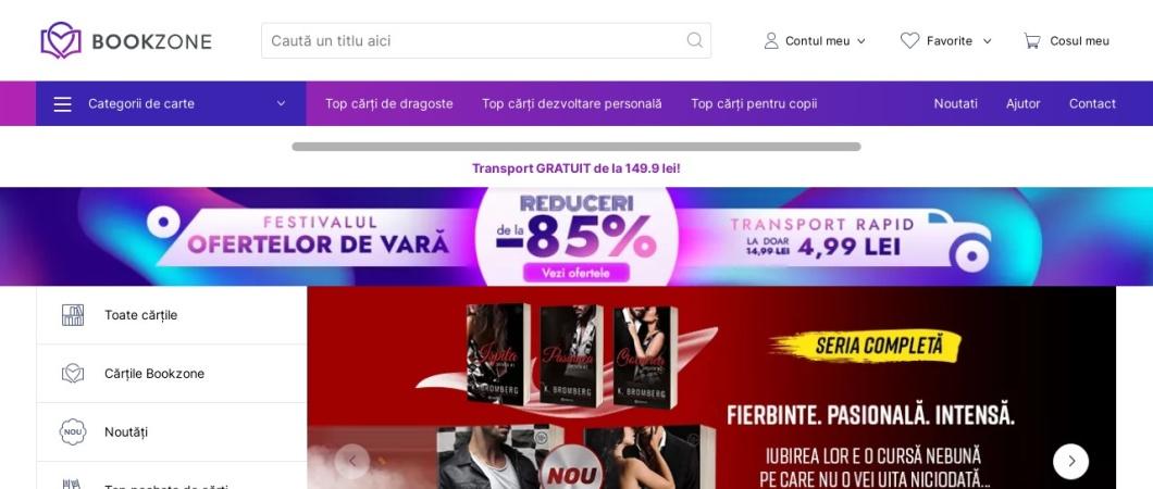 Screenshot of bookzone.ro