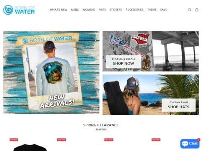 Screenshot of bornofwater.com