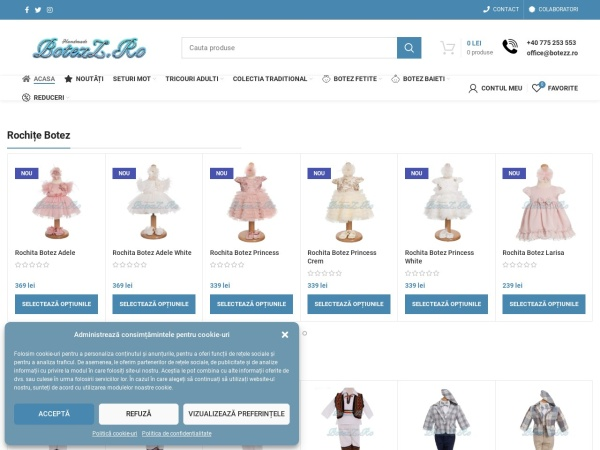 Screenshot of botezz.ro