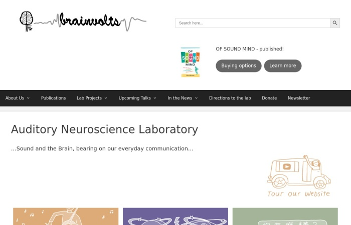 Screenshot of brainvolts.northwestern.edu