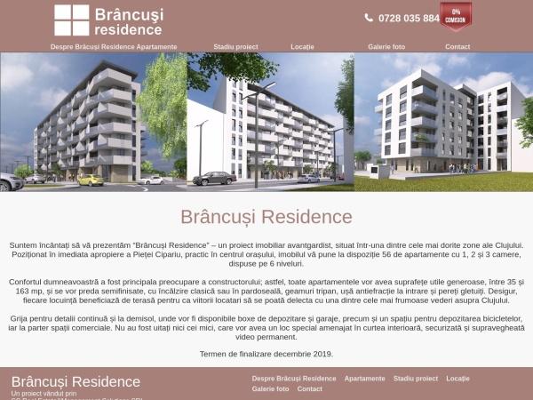 Screenshot of brancusiresidence.remsimobiliare.ro