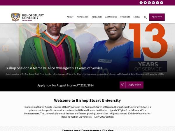 Screenshot of bsu.ac.ug