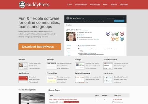 Screenshot of buddypress.org