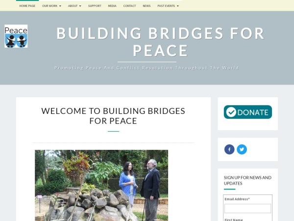 Screenshot of buildingbridgesforpeace.org