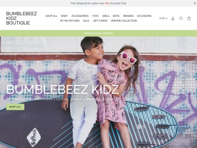 Screenshot of bumblebeezkidzboutique.com.au