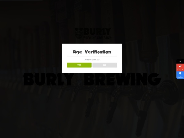 Screenshot of burlybrewing.com