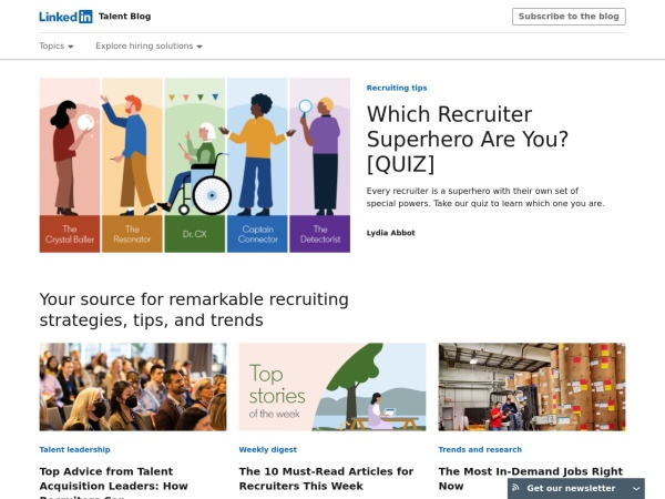 Linkedin Talent BlogScreenshot
