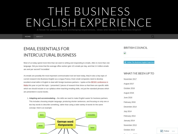 Screenshot of businessenglishexperience.com