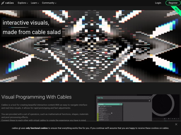 Screenshot of cables.gl
