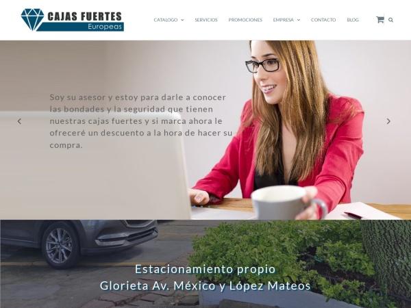 Captura de pantalla de cajasfuerteseuropeas.com.mx