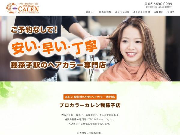 Screenshot of calen-abiko.com