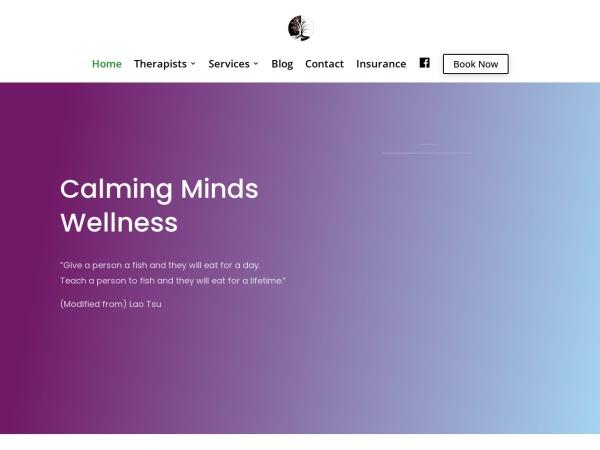 Screenshot of calmingmindswellness.ca