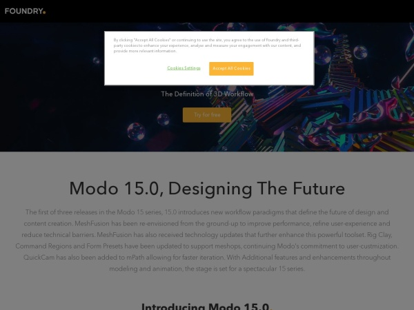 Screenshot of campaigns.foundry.com