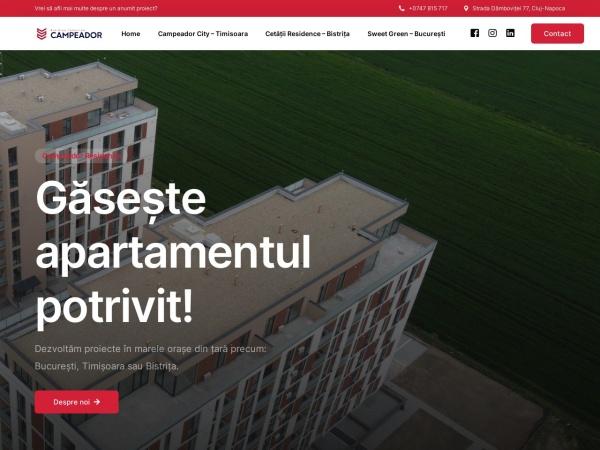 Screenshot of campeador-residence.ro