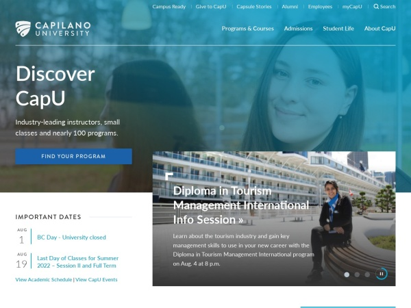 Screenshot of capilanou.ca