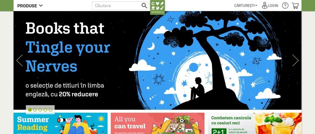 Screenshot of carturesti.ro