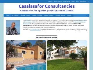 Screenshot of casalasafor.com