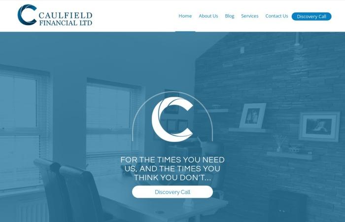 Screenshot of caulfieldfinancial.ie