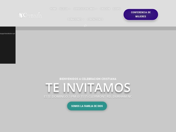 Screenshot of celebracioncristiana.org