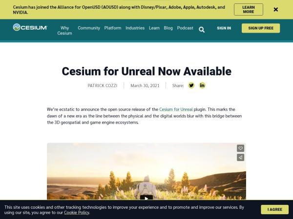 Screenshot of cesium.com